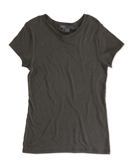 Vince Girls' Favorite Tee, Dark Shadow, 4-6X