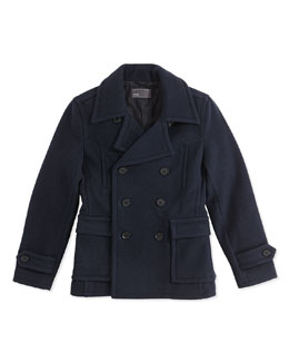 Vince Double-Breasted Peacoat, 4-7