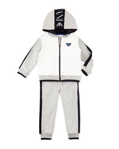 Armani Junior Two-Piece Logo Track Suit, Royal Blue, Sizes 6-24 Months