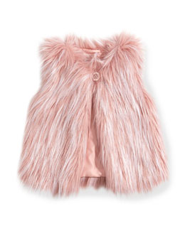 Little Marc Jacobs Girls' Faux-Fur Vest, Pink, Sizes 4-6