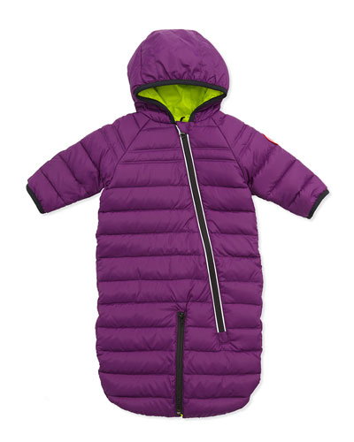 Canada Goose Pup Down-Fill Convertible Bunting, Purple, 0-12 Months