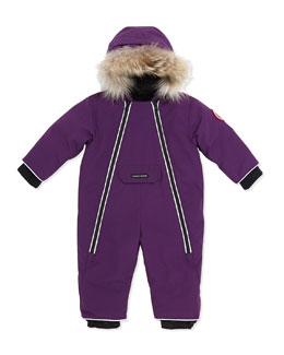 Canada Goose Lamb Snowsuit with Fur Trim, Purple, 0-24 Months