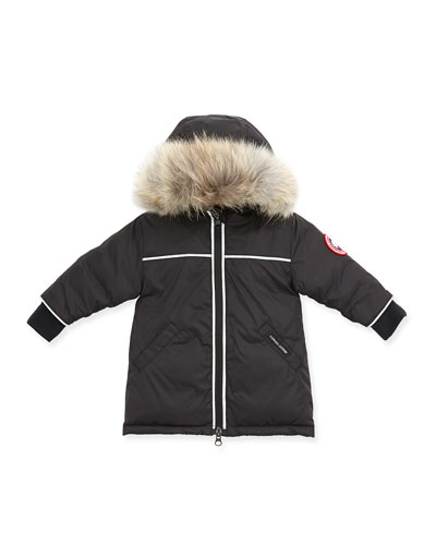 Canada Goose Reese Parka with Fur-Trim, Black, 0-24 Months