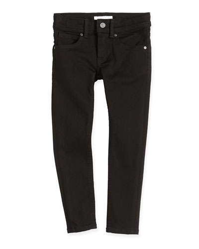Five-Pocket Skinny Jeans, Black, 4Y-14Y