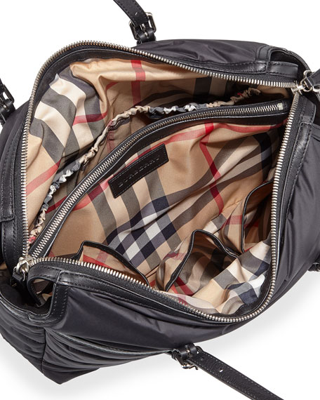 Burberry Abbey Quilted Nylon Diaper Tote Bag