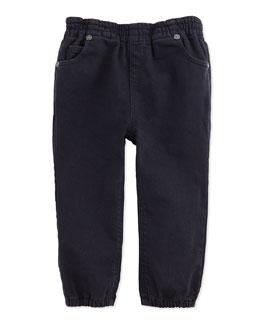 5-Pocket Casual Trousers, Dark Indigo, 3M-3Y