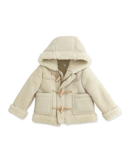 Burberry Suede and Shearling Fur Coat, 12-24 Months