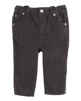 Burberry Skinny Corduroy Pants, Flint, 3M-2Y