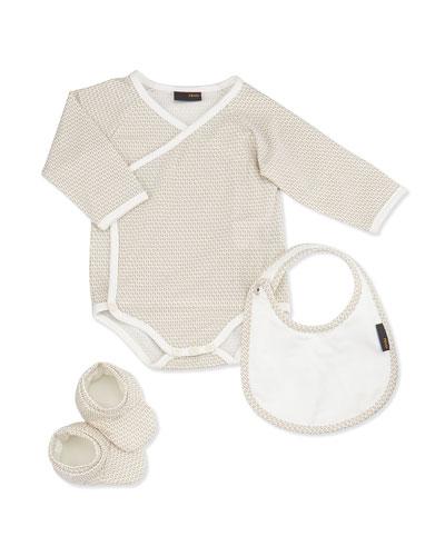 Fendi Zucca-Print Baby Gift Set, 1-9 Months