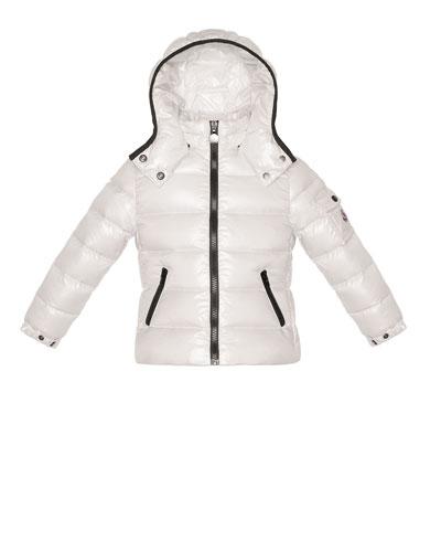 Bady Shiny Puffer Jacket, Cream, Sizes 2-6