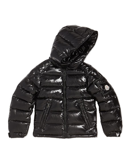 Moncler Maya Shiny Nylon Jacket Black Sizes 8 14