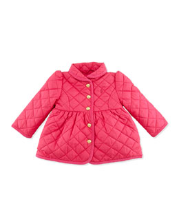 Ralph Lauren Childrenswear Quilted Barn Jacket, Currant, 9-24 Months