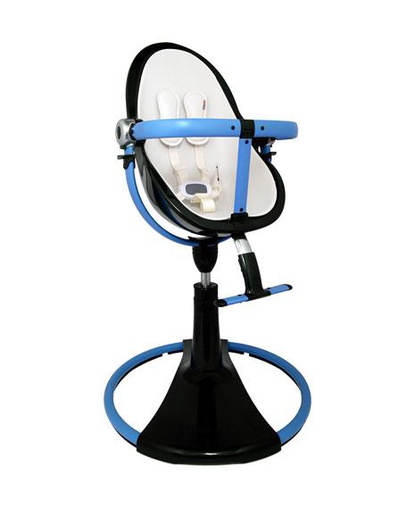 Bloom Fresco Chrome Giro High Chair Black Blue Neiman