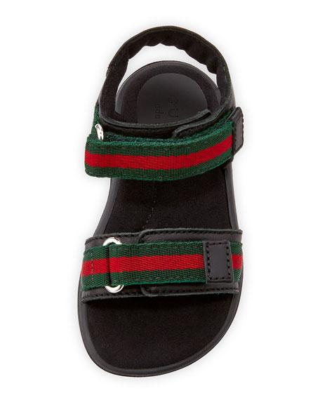 Gauffrette Web-Strap Sandal,  Toddler