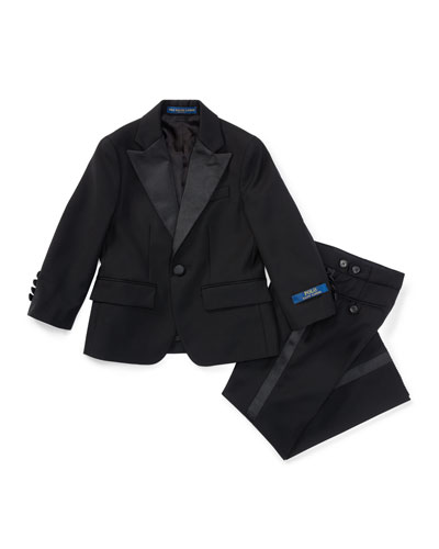 Fairbanks Wool Tuxedo, Black, Boy's Sizes 4-7
