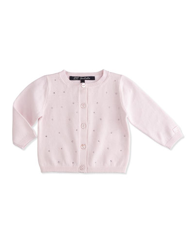 Long-Sleeve Cardigan w/ Rhinestones, Light Pink, Size 6-18 Months