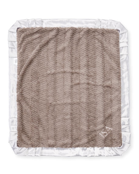 Swankie Blankie Ziggy Plush Receiving Blanket, Slate