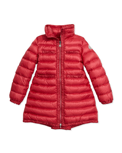 Valerie Hooded Down Coat, Fuchsia, Size 8-14