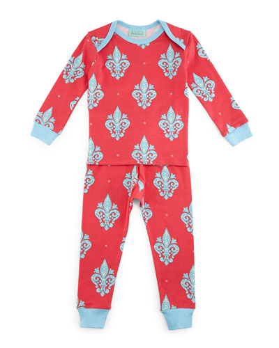French Quarter Pajama Shirt & Pants, Pink/Blue, Size 2T-8