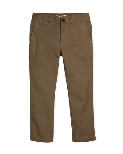 Stretch-Twill Bryan Pants, Mink Gray, Size 4-14