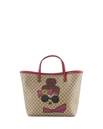 Kid's Doll Print GG Supreme Tote Bag
