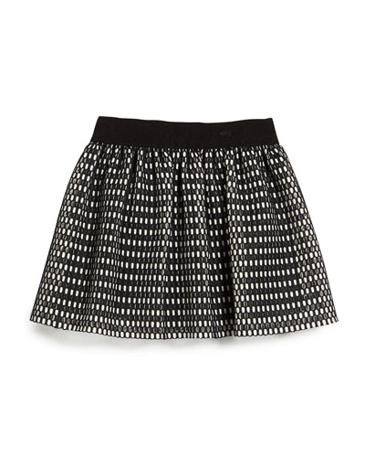 Couture Mesh Skirt, Black/White, Size 4-7
