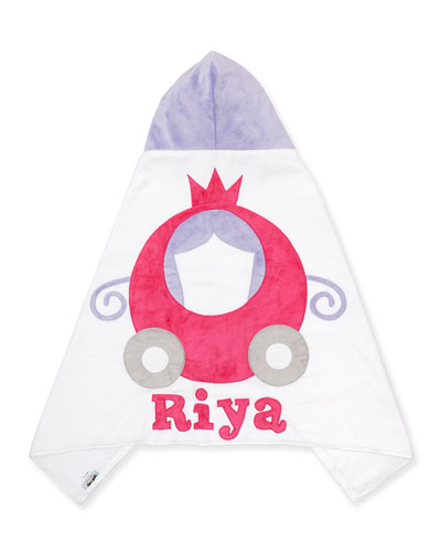 The Carriage Hooded Towel, White/Pink