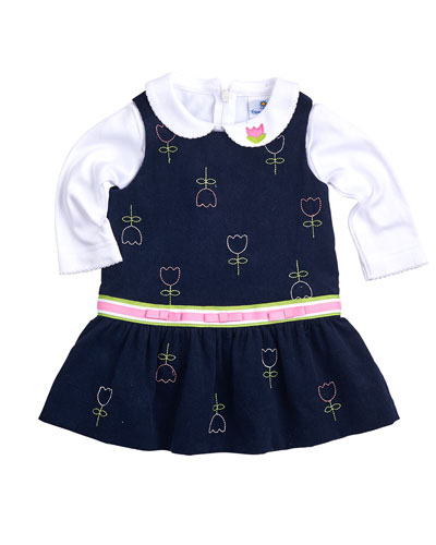 NVY TULIP PRNT CORD JUMPER &