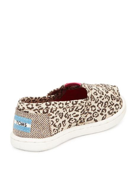 toms canvas leopard print classic shoe tiny