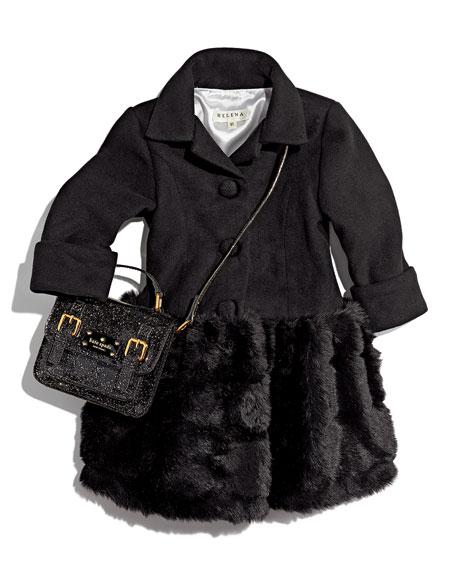 29f6f8065235 kate spade new york scout girls' metallic patent leather crossbody bag, ...