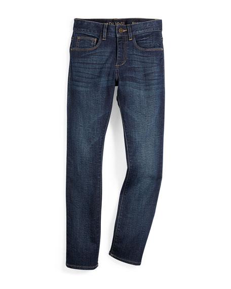 DL1961 Premium Denim Brady Activex Slim-Fit Jeans, Ferret,