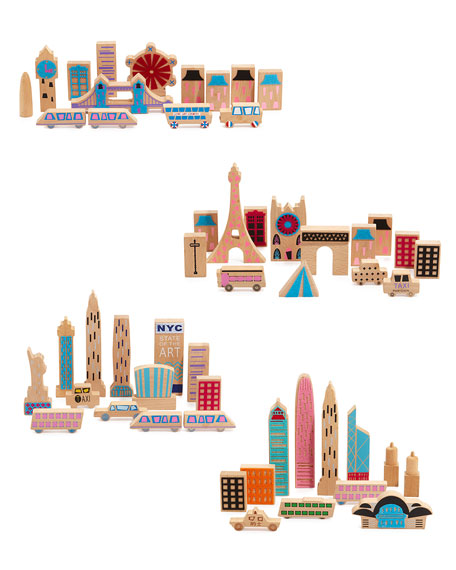 kid's cityscape wood blocks