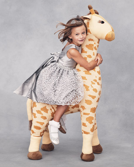 Knit Giraffe Stuffed Animal, Yellow