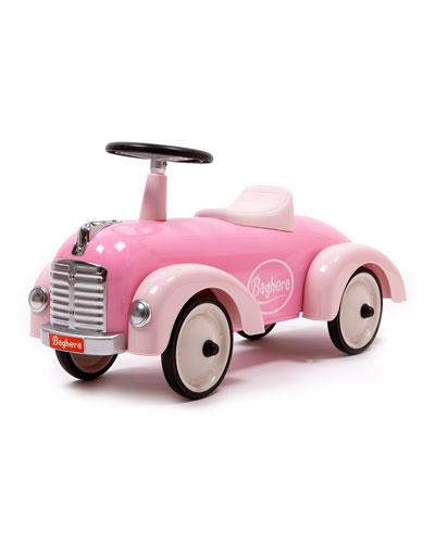 Metal Speedster Push Car, Pink