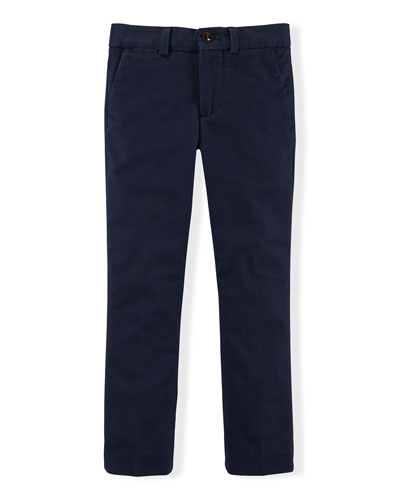 Stretch Slim-Fit Chino Pants, Size 2-7