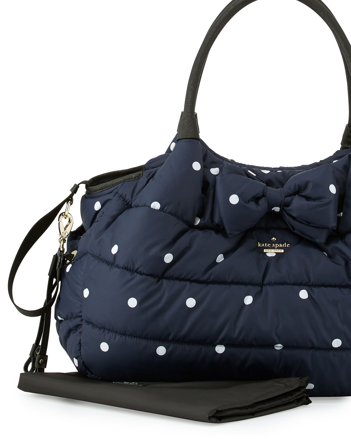 Kate spade new york stevie quilted polka dot diaper bag navy kate spade new york stevie quilted polka dot diaper bag navy neiman marcus junglespirit Choice Image