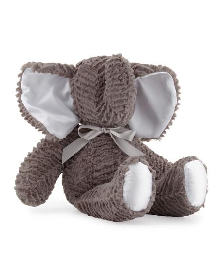Large Plush Elephant Toy, Gray