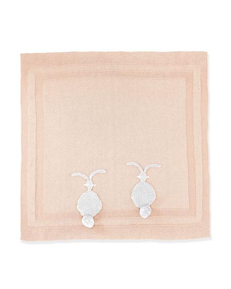 Stella McCartney Snowball Knit Bunny Blanket, Dusty Pink