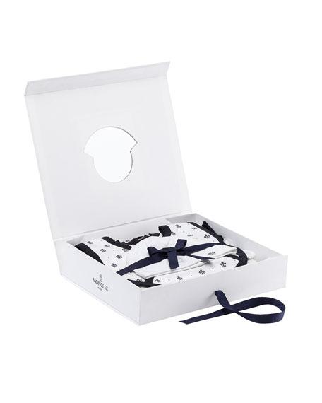 Moncler Star Shortall Gift Set, White, Size 0-9