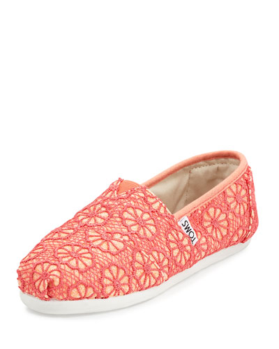 Classic Lace Alpargata Shoe, Medium Pink, Youth