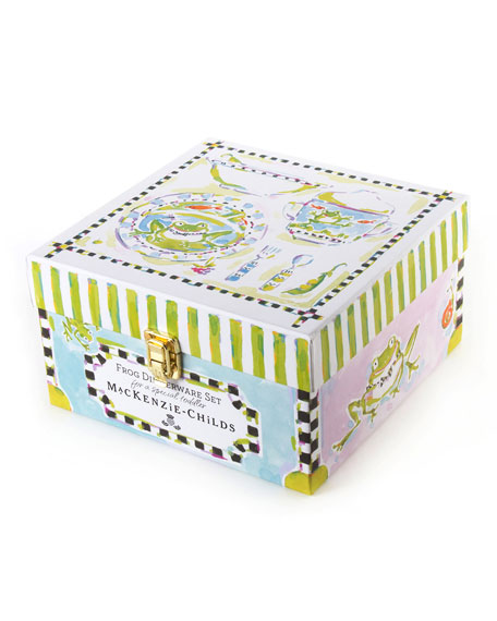 Boys' Frog Dinnerware Box Set