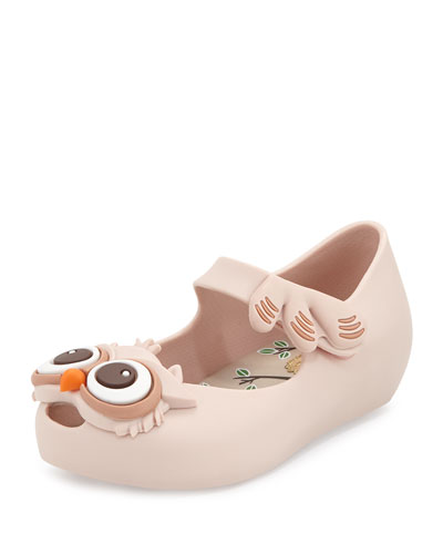 Ultragirl V Owl Mary Jane Jelly Flat, Sand, Toddler