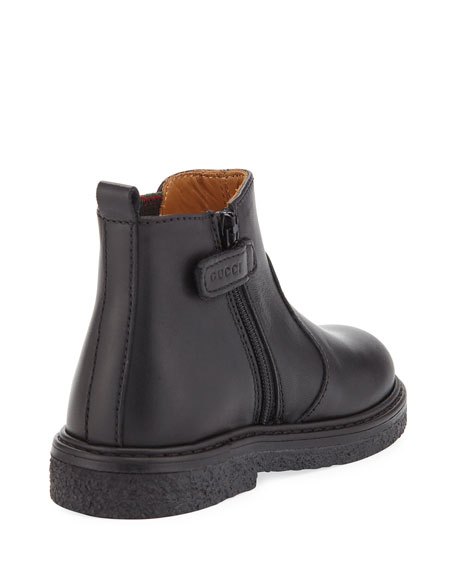 Joshua Leather Chelsea Boot, Black, Toddler Sizes 9-10