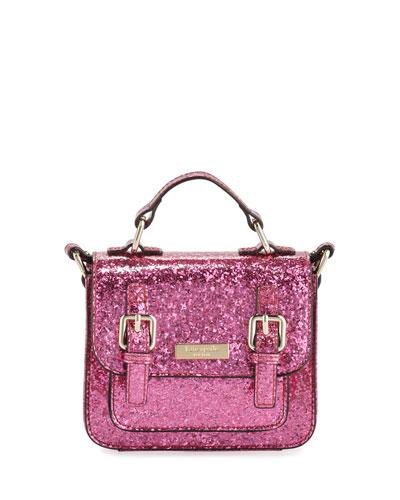 scout girls' glittered crossbody bag, pink