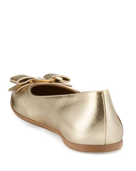 Varina Mini Leather Ballet Flat, 10T-2Y
