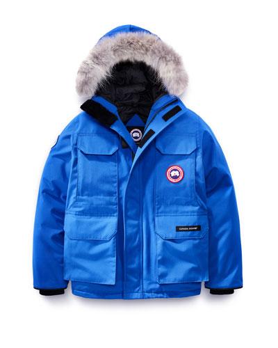 PBI Expedition Hooded Parka, Royal Blue, Size XS-XL