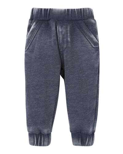 Burnout Jersey Track Pants, Navy, Size 2T-7Y