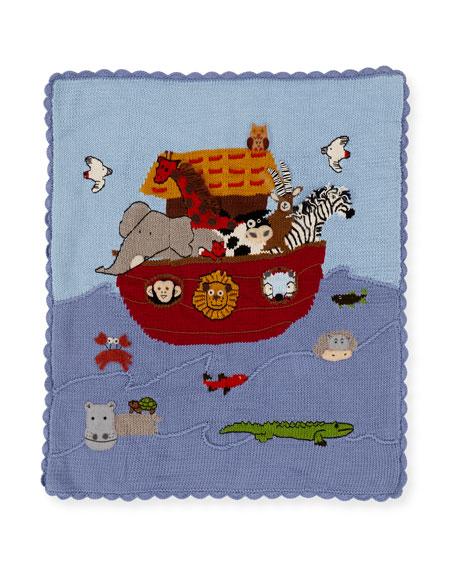 Art Walk Kids' Noah's Ark Scalloped Blanket