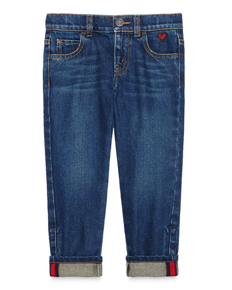 Medium Washed Skinny Jeans, Blue, Size 4-12