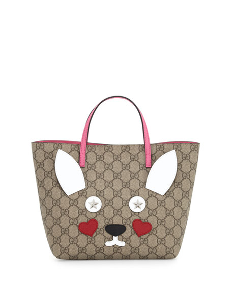 Gucci Girls' GG Supreme Rabbit Tote Bag, Multicolor